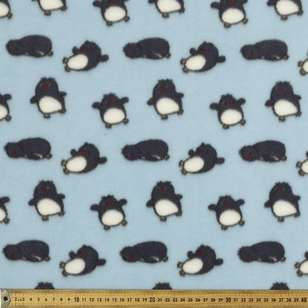 Penguins Printed Micro Fleece Fabric