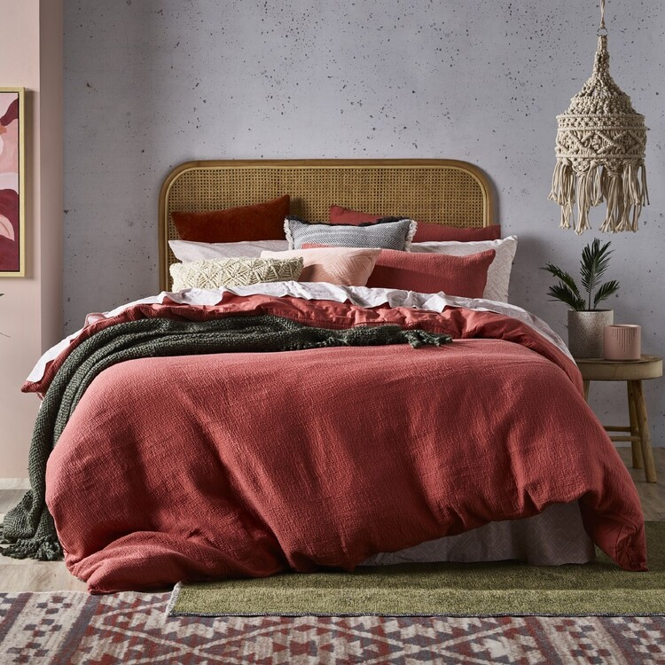 KOO Ella Textured Quilt Cover Set