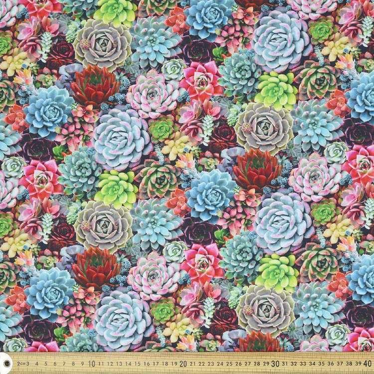 Elizabeth's Studio Digital Succulents Cotton Fabric