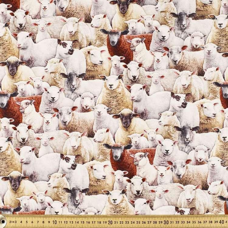 Elizabeth's Studio Sheep Cotton Fabric