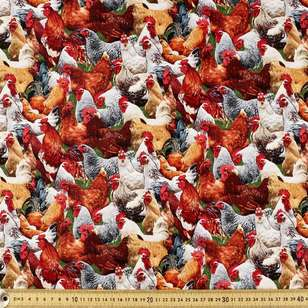 Elizabeth's Studio Roosters Cotton Fabric