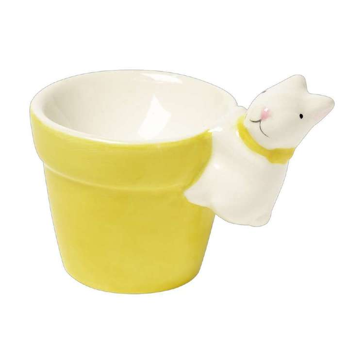 Happy Easter Ceramic Bunny Egg Holder