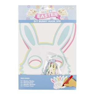 Happy Easter DIY Bunny Mask 3 Pack