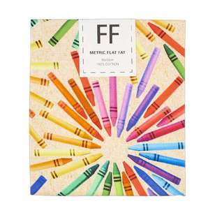 Crayon Circles Cotton Flat Fat