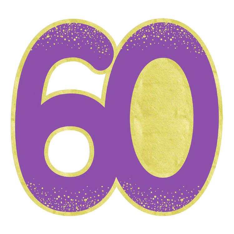 Artwrap 60th Invites 8 Pack