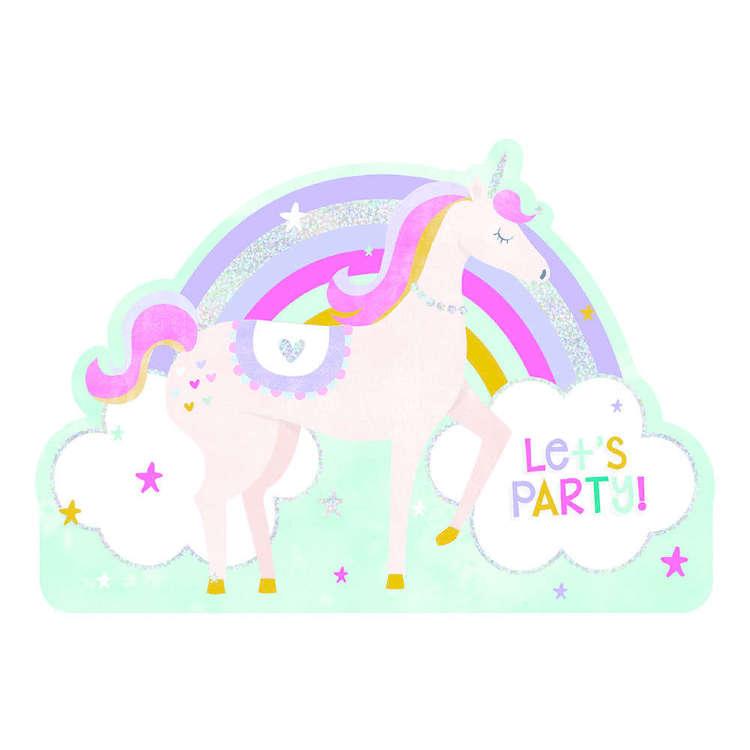 Artwrap Unicorn Invites 8 Pack