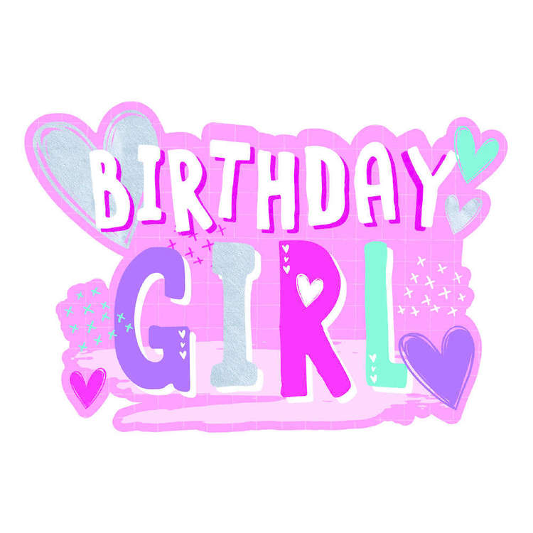 Artwrap Birthday Girl Invites 8 Pack