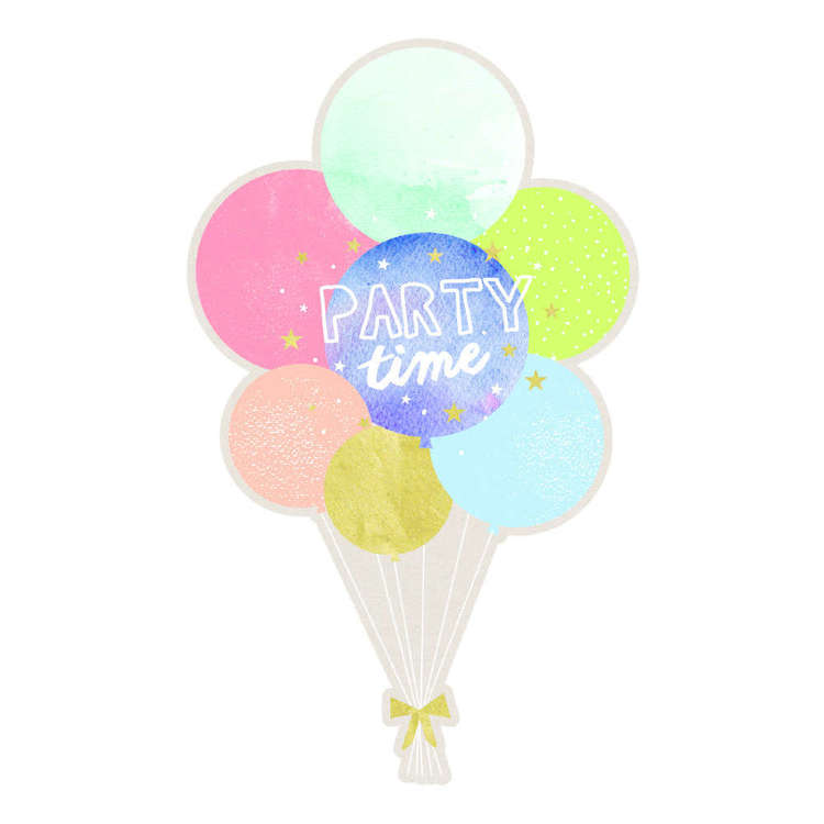 Artwrap Balloon Invites 8 Pack