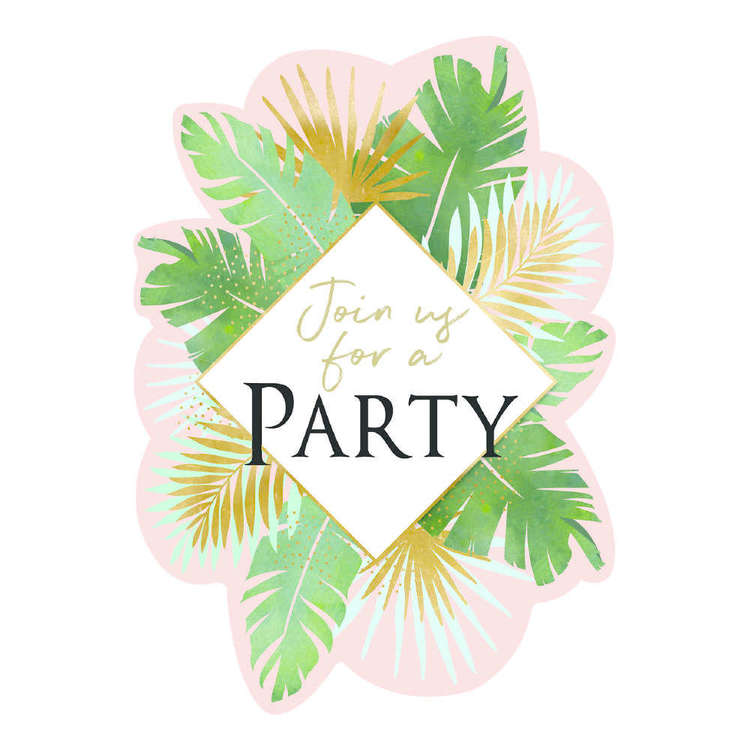 Artwrap Tropical Invites 8 Pack
