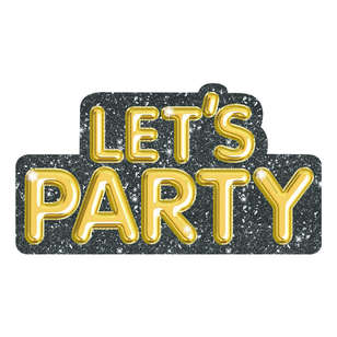 Artwrap Let's Party Gold Invites 8 Pack