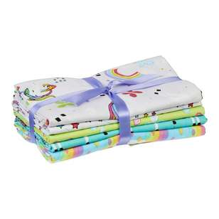 Unicorn 5 Piece Fat Quarter Bundle