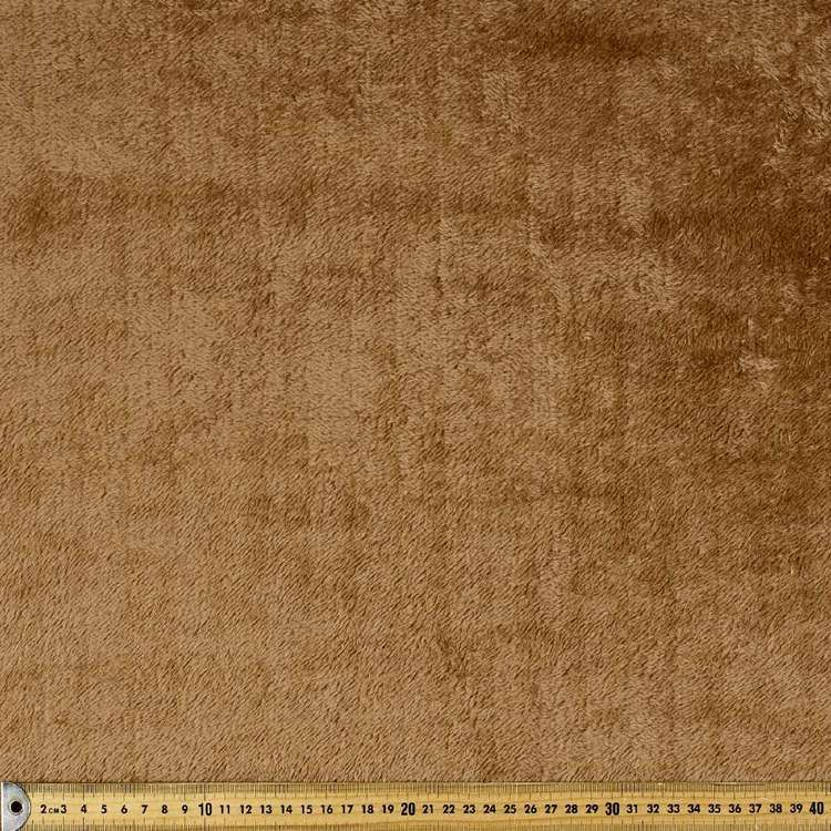 Suede Group 2 Fabric With Plush Backing Brown 138 cm