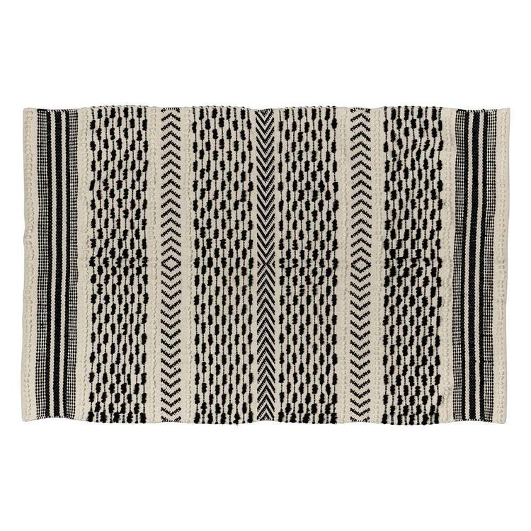 Koo Home Hemian Textured Cotton Rug