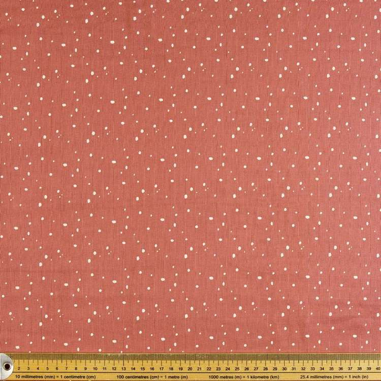 Hail Spot Printed 130 cm Crinkle Double Cloth Fabric Raspberry