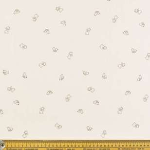 Bunny & Moose Printed 130 cm Crinkle Double Cloth Fabric