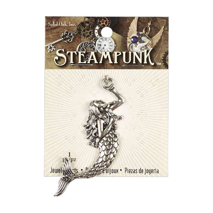 Steampunk Metallic Mermaid Pendant
