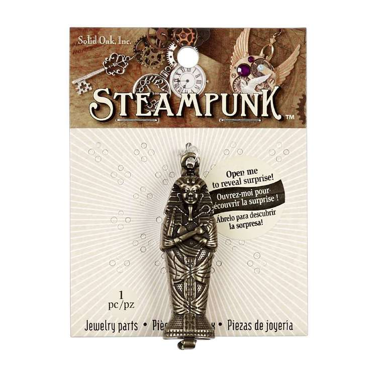 Steampunk Metallic Sarcophagus Pendant