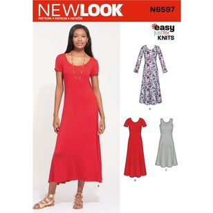 New Look Sewing Pattern N6597 Misses' Knit Dress