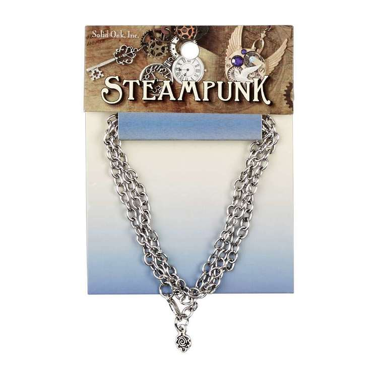 Steampunk Metallic Link Necklace Chain