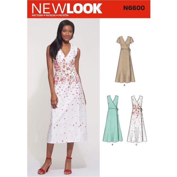 New Look Sewing Pattern N6600 Misses' Wrap Dress