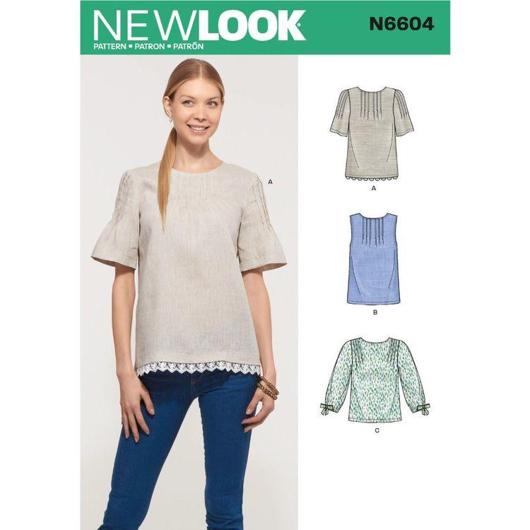 New Look Sewing Pattern N6604 Misses' Tops