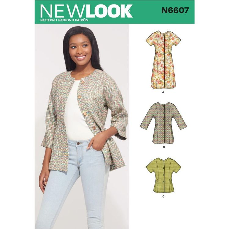 New Look Sewing Pattern N6607 Misses' Mini Dress , Tunic and Top