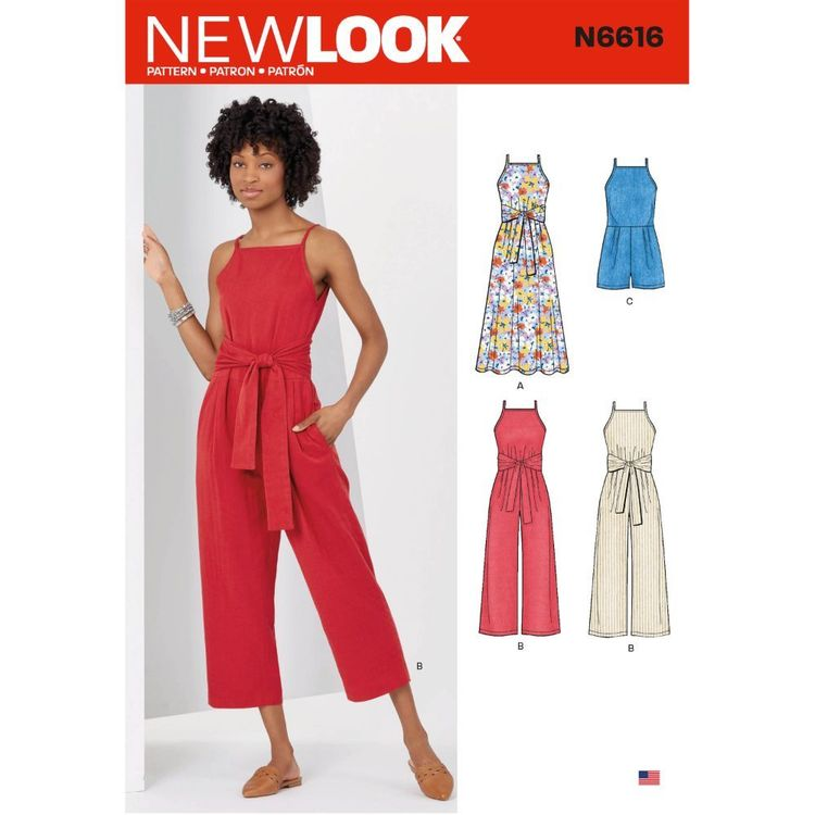New Look Sewing Pattern N6616 Misses' Dress And Jumpsuit
