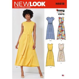 New Look Sewing Pattern N6618 Misses' Dresses In Two Lengths