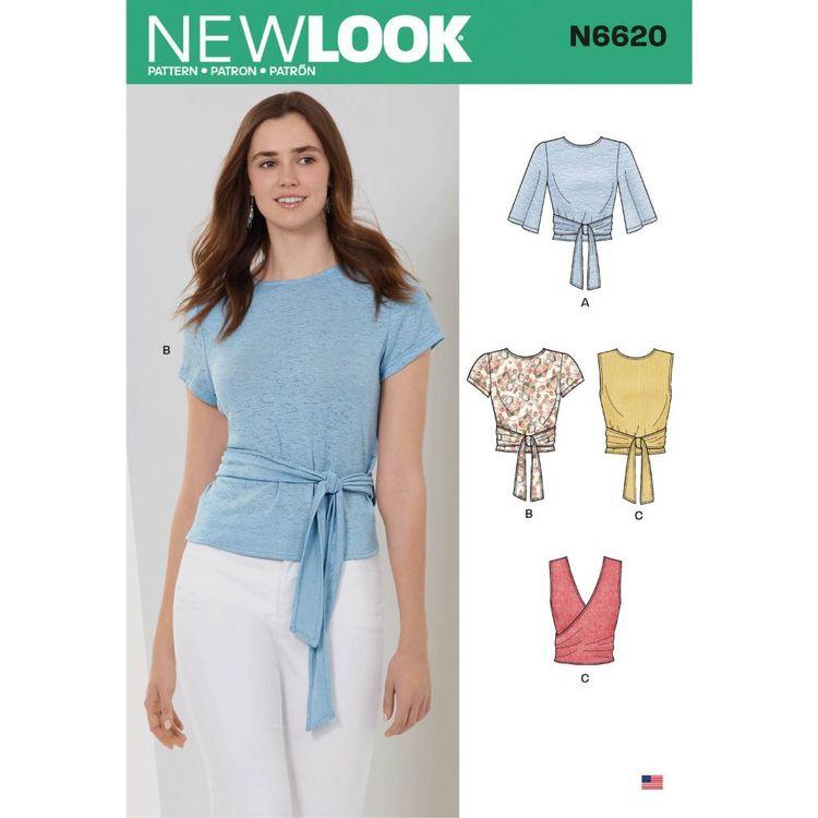 New Look Sewing Pattern N6620 Misses' Wrap Tops