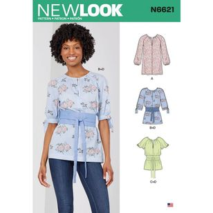 New Look Sewing Pattern N6621 Misses' Top Or Tunic
