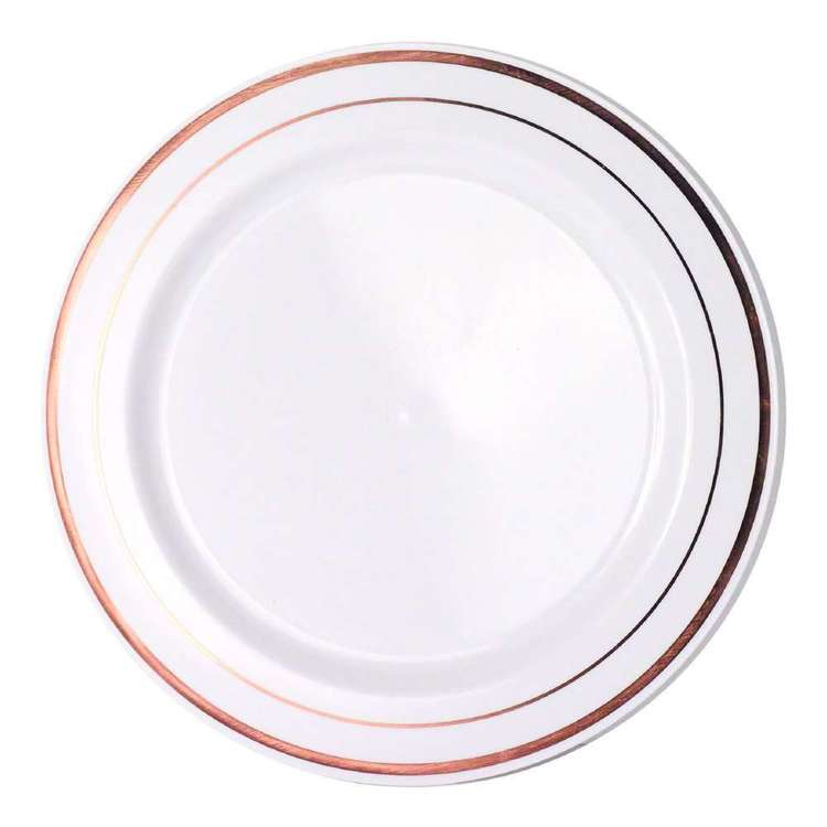 Partyware Heavy Duty Dinner Plate 6 Pack Rose Gold 26 cm