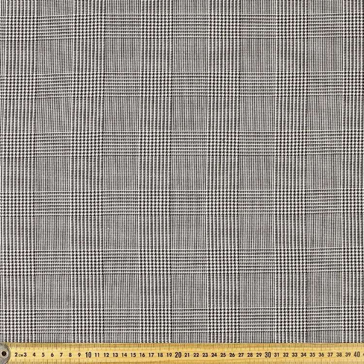 Yarn Dyed Prince Of Wales Poly Viscose Spandex Fabric