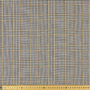 Yarn Dyed Stripe Check Poly Viscose Spandex Fabric
