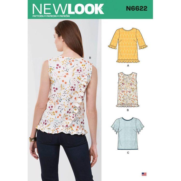 New Look Sewing Pattern N6622 Misses' Tops