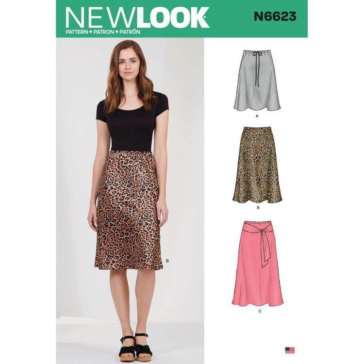New Look Sewing Pattern N6623 Misses' Skirt In Three Lengths