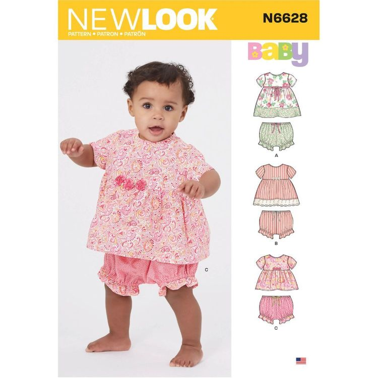 New Look Sewing Pattern N6628 Babies' Sportswear