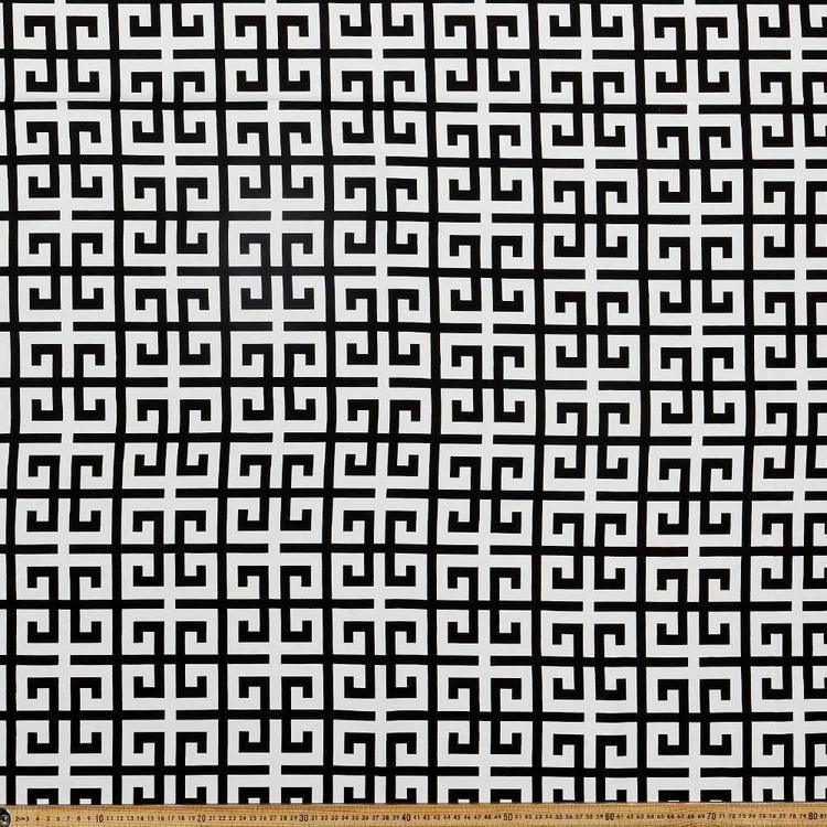 Monotone Greek Key Canvas