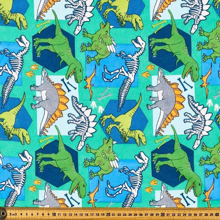 Dino Multipurpose Cotton Fabric