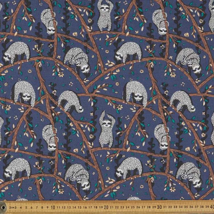 Sloth Multipurpose Cotton Fabric