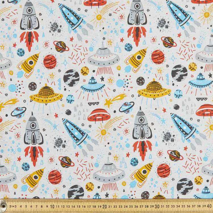 Outer Space Multipurpose Cotton Fabric
