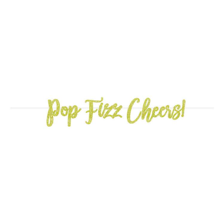 Artwrap Pop Fizz Cheers Glitter Bunting