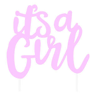 Artwrap Baby Girl Cake Topper
