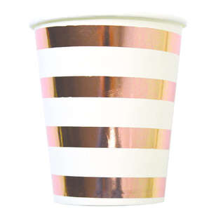 Artwrap Rose Gold Paper Cups 8 Pack