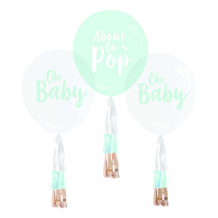 Artwrap Baby Balloon with Tassels 3 Pack