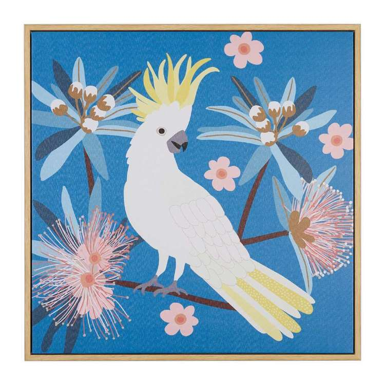 Koo Jocelyn Proust Sulphur Crested Cockatoo Framed Art