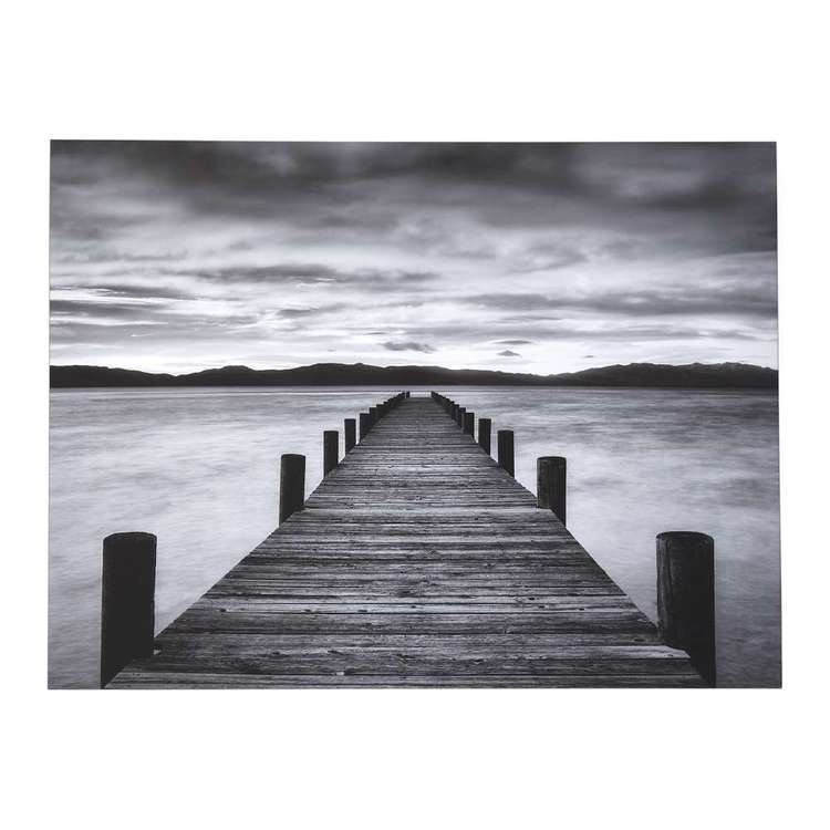 Impact Posters Morning Pier Framed Canvas