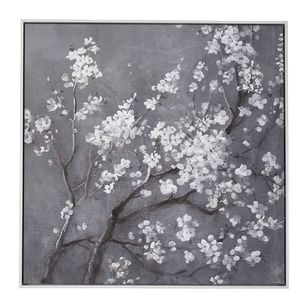 Impact Posters White Cherry Blossoms I Framed Canvas