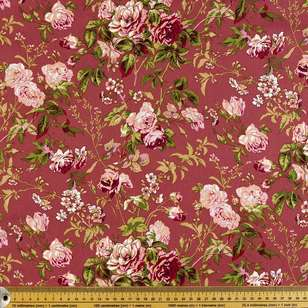 Roseberry Printed Cotton Sateen Fabric