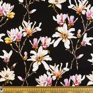 Magnolia Digital Printed Cotton Sateen Fabric
