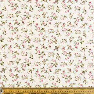 Daling Buds Printed Cotton Sateen Fabric